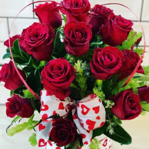Heart rose box